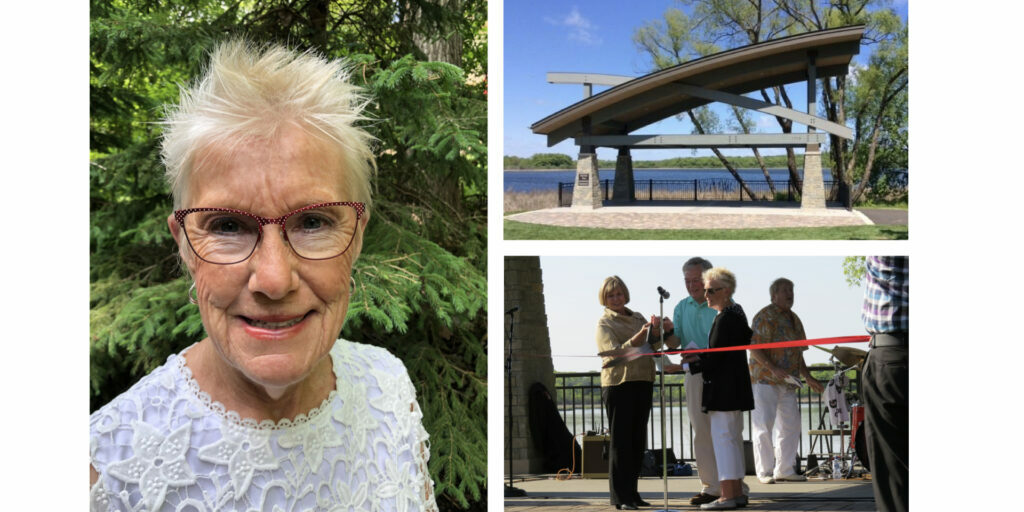 Mary Hershberger Thun, our Board Vice President. Charlson Thun Community Bandstand and ribbon cutting in 2016